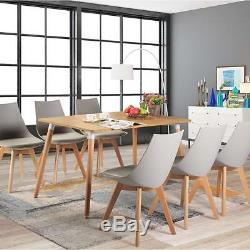 2/4/6/8 Tulip Style Dining Chair Kitchen Office Chair Leather chair Wooden Chair