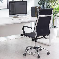 2 x Ergonomic PU Leather Office Chair High Back Executive Computer Desk Chair UK