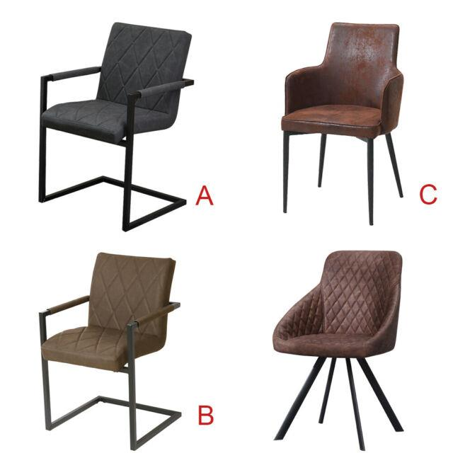 2pcs Faux Leather Dining Chairs Armchairs Home/office/restaurant/living Room