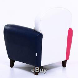 2x Leather Union Jack Tub Chair Armchair for Dining Living Room Office Reception