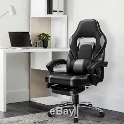 360°Swivel Executive Racing Gaming Office Chair Computer Desk Faux Leather Chair