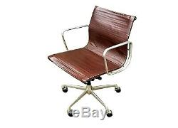 #5 EAMES ICF EA 117 BROWN LEATHER OFFICE CHAIR VINTAGE MID CENTURY 60s 70s RETRO