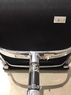 6 Genuine Vitra Eames Soft Pad EA 208 Black Leather Desk Chairs