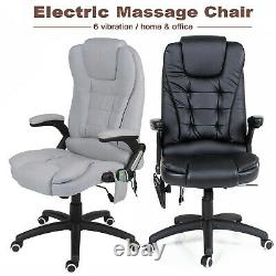 6 Point Electric Massage Chair Leather Executive Home Office Computer Desk Chair