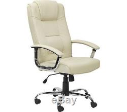 ALPHASON Houston Leather Reclining Executive Chair Cream