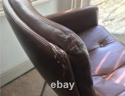 ARTIFORT Geoffrey D Harcourt Design Office arm chair leather, vintage, brown