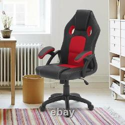 Adjustable Executive Racing Gaming Computer Office Chair Swivel Recliner Leather