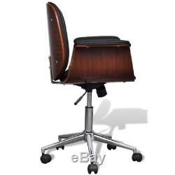 Adjustable Swivel Home Office Chair PU Leather Padded Armchair Computer Seat