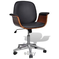 Adjustable Swivel Office Chair Artificial Leather Angle-adjustable Backrest