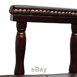 Antique Executive Office Chair Chesterfield Vintage Desk Solid Wood Swivel Retro