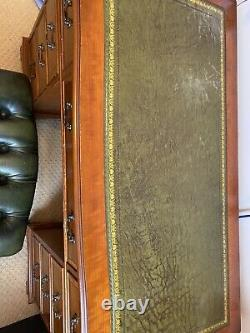 Antique Office Desk And Leather Chair