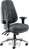 Arista Lucania Leather Task Chair Black KF74022