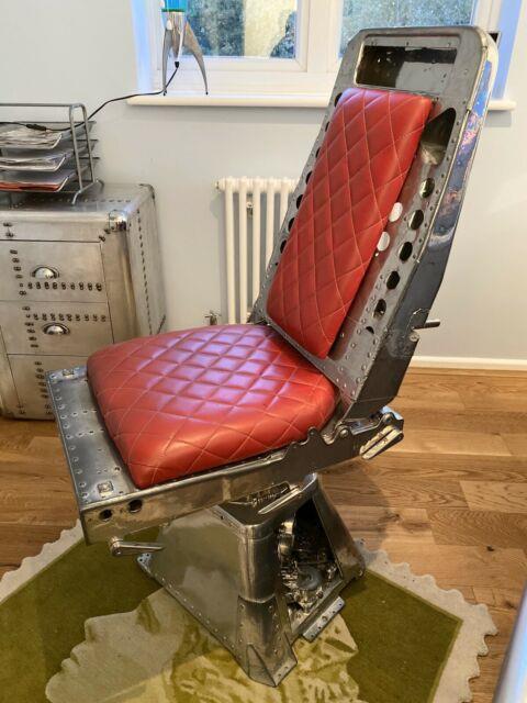 Aviation/aviator Computer Chair Office Furniture Handmade Bespoke Desk Leather