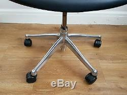 Black Leather/ Chrome Frame Humanscale Freedom High Back Ergonomic Office Chair
