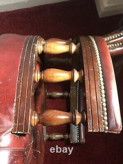 Beautiful Leather Chesterfield Captains office Chair by Ring Mekanikk Norway