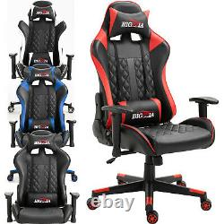 Bigzzia Pro Gt Reclining Sports Racing Gaming Office Desk Pc Car Leather Chair