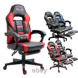 Bigzzia Racing Gaming Chairs Swivel Office Recliner Computer Desk Chair Footrest