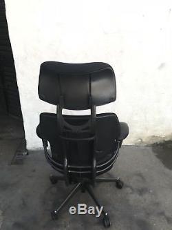 Black Cloth Humanscale Freedom Ergonomic Office Chair Headrest