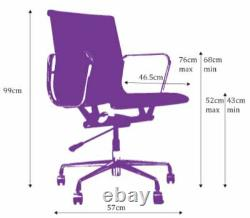 Black Eames Style ea117 office task chair Swivel vintage Designer vegan leather