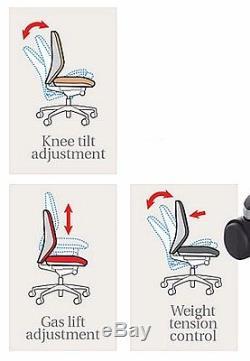 Black Leather Chair Ergonomic Office Swivel Furniture Desk Executive Computer