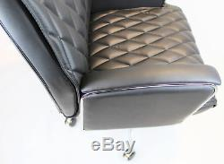 Black Leather Executive Office Recliner Chair EXTRA Large Superb Quality