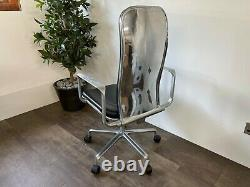 Black Leather Fred Scott Hille Supporto Office Chair Design Classic LOOK