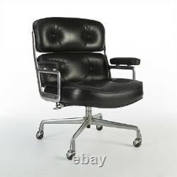 Black Leather Herman Miller Original Vintage Eames ES104 Time Life Office Chair