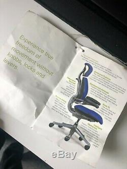 Black Leather Humanscale Freedom Ergonomic Office Chair Headrest Warranty