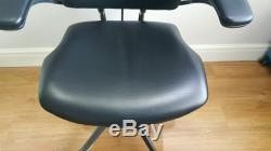 Black Leather Humanscale Freedom Ergonomic Office Task Chair With Headrest