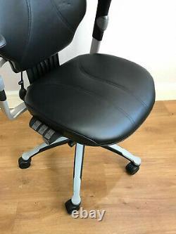 Black Leather Rh400 Elegance Fully Ergonomic Office Task Chairs Headrest