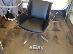 Boss Design Kruze Black Leather Lounge Chair