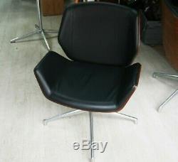 Boss Design Kruze Chair Black Leather, Wood Back