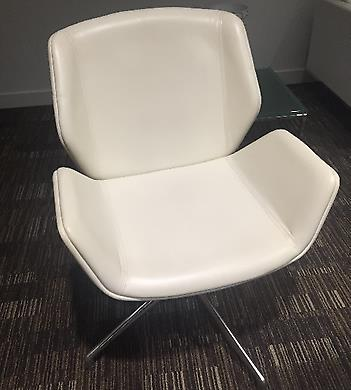 Boss Design Kruze Chairs, Full White Leather 11 Available