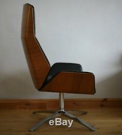 Boss Kruze High Back Leather Lounge Armchair / Chair