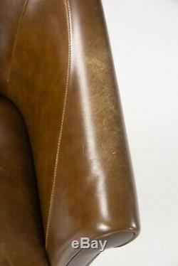 Brown Leather Poltrona Frau Luca Scacchetti Sinan Office Desk Chair Mult Avail