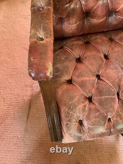 Brown Leather Ring Mekanikk Norway Swivel Captains / Office Desk Chair