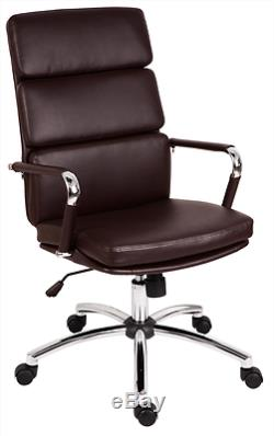 Brown Teknik Deco Faux Leather Executive Office Chair Ofc Furniture Desk Chair