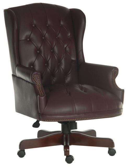 Chairman Swivel Super Large Traditional Leather Executive Office Chair