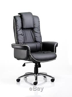 CHELSEA Wide Gull Wing Bonded Leather Executive Office Swivel Chair