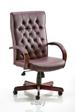 CHESTERFIELD Leather Faced Traditional Antique Style Executive Office Chair