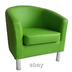 Camden Leather Tub Chair Armchair Dining Room Office Reception Green