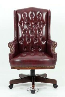 Chesterfield Captains Managers Office Desk Leather Computer Chair Furniture