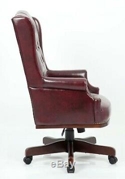 Chesterfield Executive Managers Office Desk Leather Computer Chair Furniture