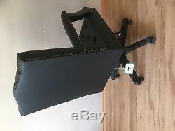Chesterfield office chair Gainsborough. Black leather Handmade! Drehstuhl