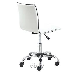 Comfy Computer Desk Office Chair Swivel Lift Chair PU Leather Padded Seat Armles