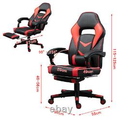 Computer Desk Gaming Racing Desk and Chair Set with Cup Holder Footrest Office UK