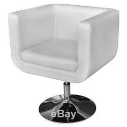 Contemporary Lounge chair Home Office Living Room Bedroom White Leather Chair