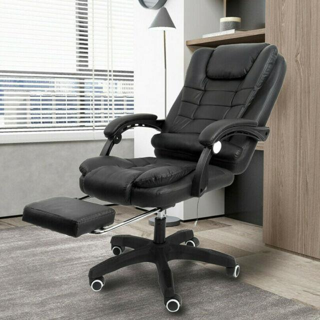 Cosy Massage Computer Chair Home Office Gaming Relaxing Lift Swivel Pu Recliner