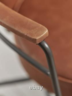Cox & Cox Modern Industrial Style Tan Faux Leather Office Chair RRP £325