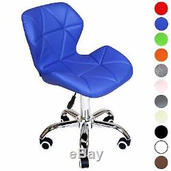 Cushioned Computer Desk Office Chair Chrome Legs Lift Swivel by Charles Jacobs